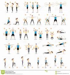 esercizi aerobici da fare in casa and workout fitness aerobic exercises stock