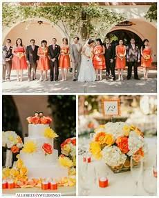 wedding color schemes yellow and orange