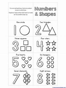shapes and numbers worksheets for preschoolers 1207 numbers 1 10 and shapes mini accordion coloring book printable free with images numbers
