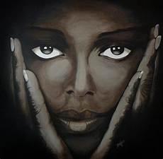 tableau visage noir et blanc ayiti soins du visage