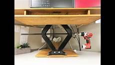 diy height adjustable standing desk youtube