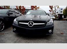 Matte black Mercedes SL550   YouTube