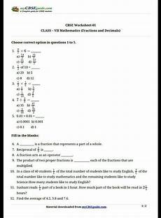 decimals worksheets for class 5 cbse 7137 worksheet of chapter 2 fraction qnd decimal for class 7 brainly in