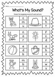 beginning sounds printable worksheet kindergarten