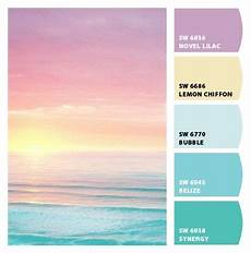 pastel sunset color palette the blue and yellow are my