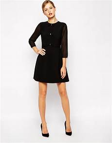 lyst ted baker skater dress with bow detail in black