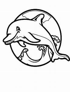 dolphin coloring pages clipart panda free