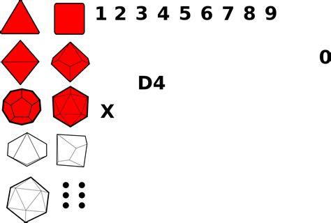D20 Dice Outline
