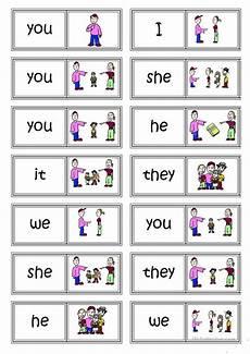subject pronouns domino english esl worksheets