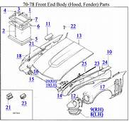 70 78 Front End Body Hood Fender Parts Z Car Source