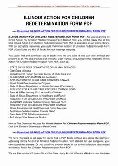 illinois action for children redetermination form bill of sale form illinois release form for minors