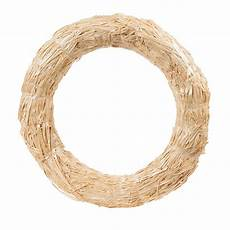 floracraft straw wreath natural inches