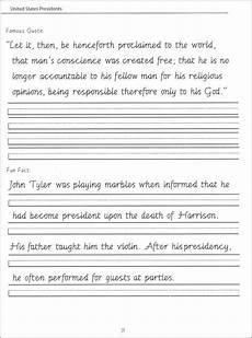 cursive handwriting worksheets 5th grade 22014 presidents worksheets 44 united states presidents character writing worksheets getty dubay