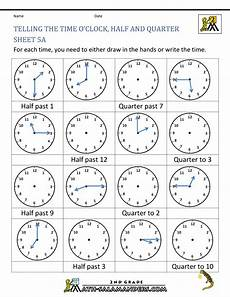 time worksheets grade 4 2887 time worksheet o clock quarter and half past