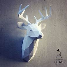19 Papercraft Deer 3 Printable Digital Template