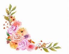 bordure en fleur watercolor autumn floral bouquet watercolor clipart flower