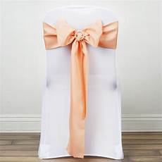 50 polyester chair sashes ties bows wedding party ceremony