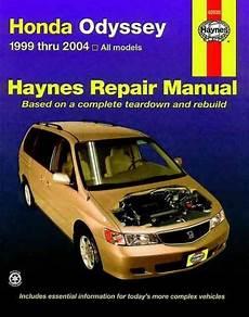 car repair manuals download 2004 honda odyssey interior lighting honda odyssey 1999 2004 haynes service repair manual honda odyssey