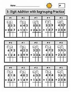 subtraction worksheets with grid lines 10162 addition with regrouping worksheets i that they are on grid paper this really helps