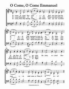 free choir sheet music o come o come emmanuel key of d