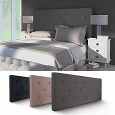 tete de lit grise t 234 te de lit grise 160 cm pas cher en simili cuir id market