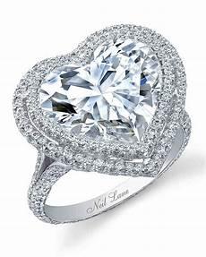 heart shaped engagement rings martha stewart weddings