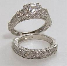 vintage looking wedding ring sets design wedding rings engagement rings gallery estate style wedding engagement ring