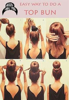 easy way to do a top bun hairstyle hmmm should i wear