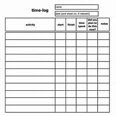 free 10 time log templates in pdf word