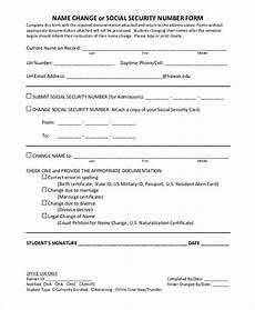 sle social security name change form 7 exles in pdf
