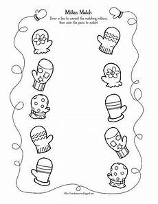 winter matching worksheets for preschoolers 20060 mitten match printable activity winter theme preschool preschool activities winter preschool