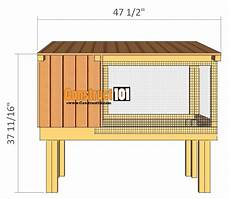 rabbit housing plans rabbit hutch plans step by step plans construct101
