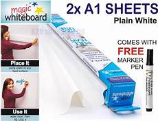 2x a1 sheets magic whiteboard for wall dry wipe reusable sticker roll stick ebay