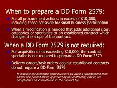 ppt small business training dd form 2579 presented by