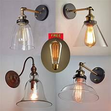 modern vintage industrial loft metal glass rustic sconce wall light wall l ebay