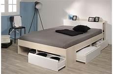 lit 2 personnes avec rangement pas cher pour chambre adulte