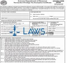 form 5000 transaction privilege tax exemption certificate tax exemptions forms laws com