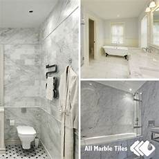 bathroom tile ideas white carrara marble tiles and