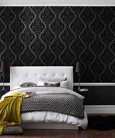 Edle Tapeten Wohnzimmer - eshara black wohnen in schwarz schlafzimmer tapete