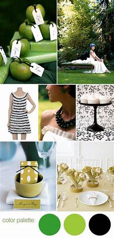 black white and green wedding color palette junebug weddings