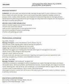 therapist resume sles exles templates 6 exles in word pdf
