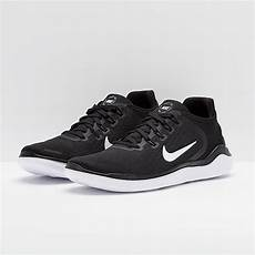 nike free rn 2018 black white mens shoes 942836 001
