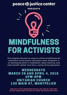 cancelled mindfulness for activists peace justice center