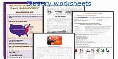 english teaching worksheets slavery
