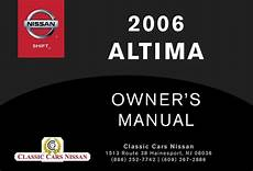 old car owners manuals 2006 nissan altima security system 2006 altima owner s manual