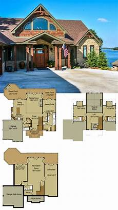 lake house plans walkout basement rustic mountain house floor plan with walkout basement