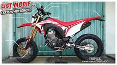 Crf150l Modif Supermoto by List Modifikasi Honda Crf150l Supermoto
