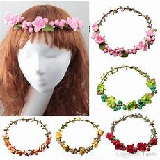 rattan artificial berries flower headpiece headband hairband head wreath diy floral bridal