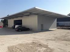 farbe für dachüberstand pultdachhalle vom hersteller hts industriebau