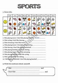 like sports worksheets 15833 sports i like i don 180 t like esl worksheet by robirimini